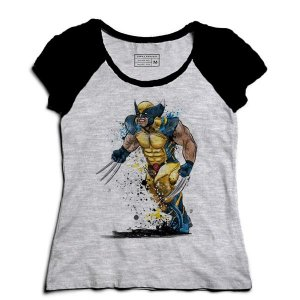 Camiseta Feminina Raglan Wolverine - Loja Nerd e Geek