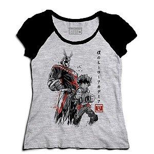 Camiseta Feminina Raglan Boku no Hero Academia - Loja Nerd e Geek