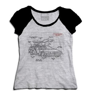 Camiseta Feminina Raglan De volta para o Futuro - Loja Nerd e Geek