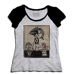 Camiseta Feminina Raglan Mescla My Hero Elf - Loja Nerd e Geek