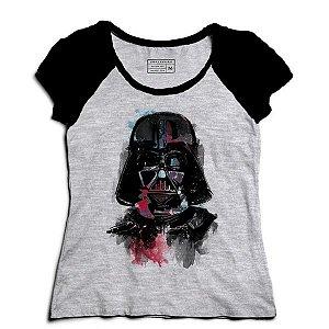 Camiseta Feminina Raglan Mescla Color Dark - Loja Nerd e Geek