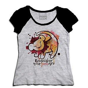 Camiseta Feminina Raglan Mescla Baby King - Loja Nerd e Geek
