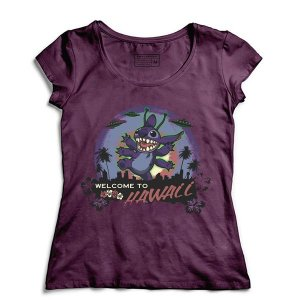 Camiseta Feminina Hawaii- Loja Nerd e Geek