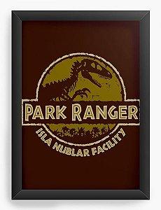 Quadro Decorativo A3 (45X33) Geekz Parque Ranger - Loja Nerd e Geek - Presentes Criativos