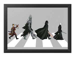 Quadro Decorativo A4 (33X24) The Dark Road - Loja Nerd e Geek - Presentes Criativos