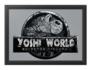Quadro Decorativo A3 (45X33) Yoshi World - Loja Nerd e Geek - Presentes Criativos