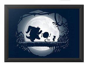 Quadro Decorativo A4 (33X24) Monstros SA - Hakuna Matata - Loja Nerd e Geek - Presentes Criativos