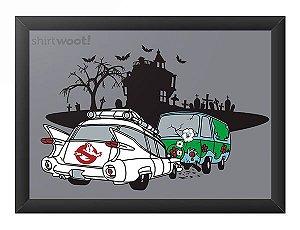 Quadro Decorativo A3 (45X33) Fantasma - Loja Nerd e Geek - Presentes Criativos