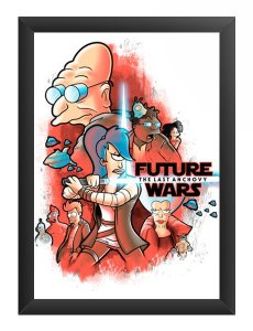 Quadro Decorativo A3 (45X33) Space Wars Future - Loja Nerd e Geek - Presentes Criativos