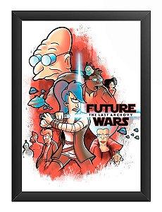 Quadro Decorativo A4 (33X24) Space Wars Future - Loja Nerd e Geek - Presentes Criativos