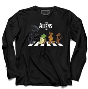 Camiseta Manga Longa The Aliens - Loja Nerd e Geek - Presentes Criativos