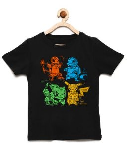 Camiseta Infantil Pokemon - Loja Nerd e Geek - Presentes Criativos