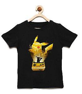 Camiseta Infantil Pokemon Pichachu- Loja Nerd e Geek - Presentes Criativos