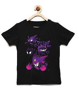 Camiseta Infantil Pokemon Gengar - Loja Nerd e Geek - Presentes Criativos