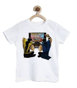 Camiseta Infantil Scorpion Street Fighter - Loja Nerd e Geek - Presentes Criativos