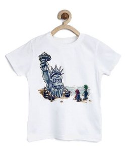 Camiseta Infantil Monkey American - Loja Nerd e Geek - Presentes Criativos