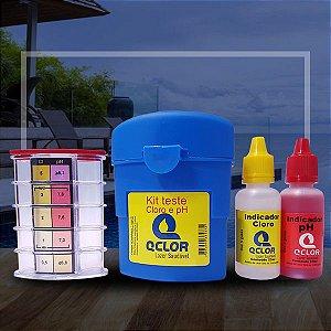Q Clor Kit Teste de Cloro e pH