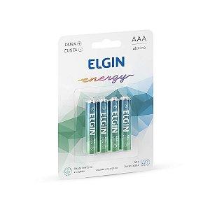 Pilha Alcalina AAA LR03 1.5V Blister C/4 Elgin - 82155