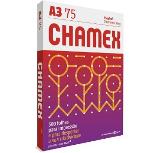 Papel A3 Sulfite Chamex 297mm x 420mm 75g Pacote com 500 folhas