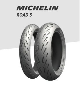 Par de Pneu Michelin Pilot Road 5 120/70 R17 e 160/60 R17