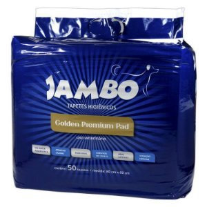 TAPETE HIGIENICO GOLDEN P/ CAES 50 PCS JAMBO