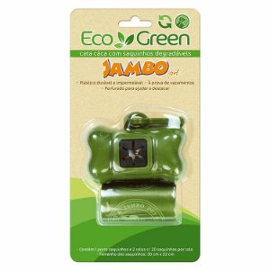 KIT PORTA SAQUINHO BIO ECO GREEN 2 ROLOS