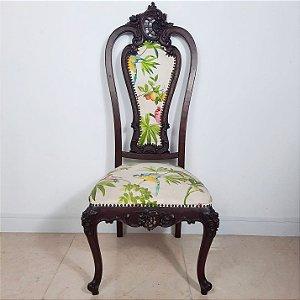 Jogo de 10 Cadeiras Luis XV em Imbuia