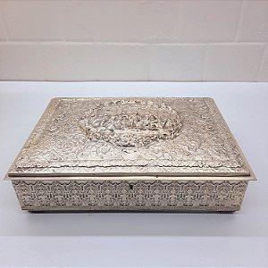 Porta Objeto Banho de Prata Francês Antigo (0821)