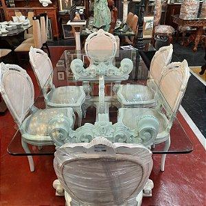 Mesa com 6 Cadeiras em Cerejeira Provençal
