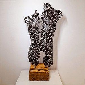 Escultura Homem e Mulher em Ferro