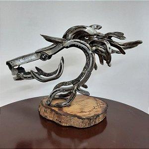 Escultura Cavalo feito em Ferraduras Mario Pascioniki