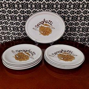 Jogo de Porcelana Spaghetti 7 Peças