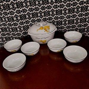 Jogo de Porcelana para Sopa 7 Peças