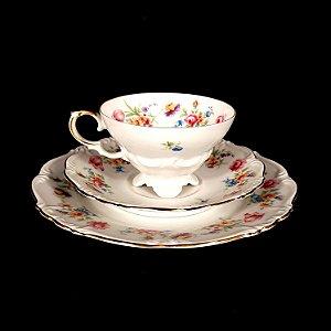 Trio de porcelana Alemã Edelstein Maria Theresia Numerado