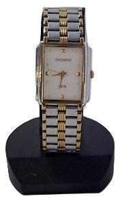 Relógio De Pulso Feminino Technos Prateado e Dourado