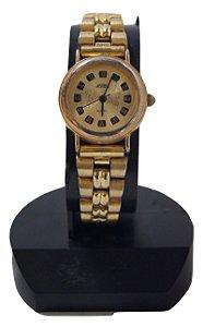 Relógio De Pulso Feminino Superatic Dourado