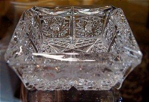 cinzeiro charuteiro de cristal tcheco Quadrado 14cm