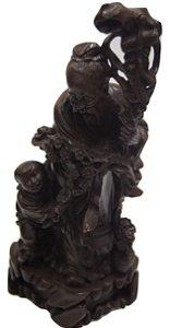 Escultura Estatua De Resina Chines Monge Artes Marciais