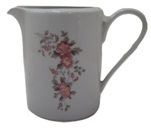 Antiga leiteira de porcelana rosas vermelhas