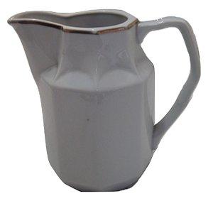 antiga leiteira de porcelana schmidt listra dourada