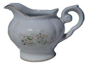 antigo leiteira de porcelana real flores