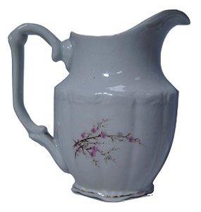 antigo leiteira de porcelana steatita galho de flores rosas