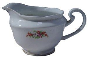 antiga leiteira de porcelana steatita rosas