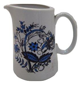 Antiga Leiteira De Porcelana Flores Azuis