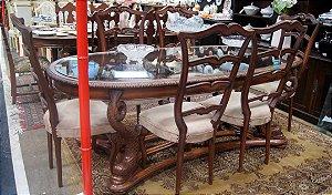Conjunto Sala De Jantar 6 Cadeiras chipandelle cerejeira