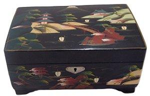 Caixa De Musica Porta Joias Chinesa Pintada A Mão