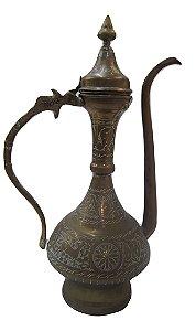 Antigo Bule Árabe De Latão
