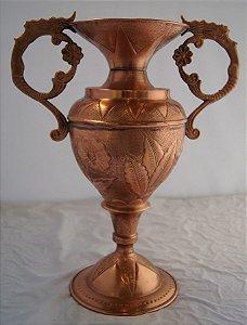 Vaso ânfora art nouveau antigo em cobre