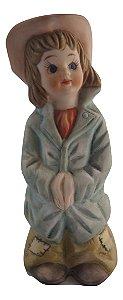 Escultura Estátua de Porcelana Tema Do Cotidiano
