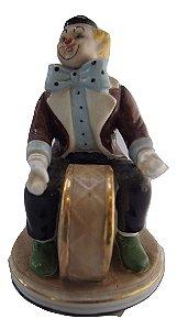Escultura Estátua de Porcelana Marti Fiero Palhaço Bumbo